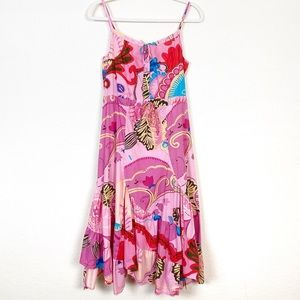 Johnny Was | Pink Abstract Floral Sleeveless Dress